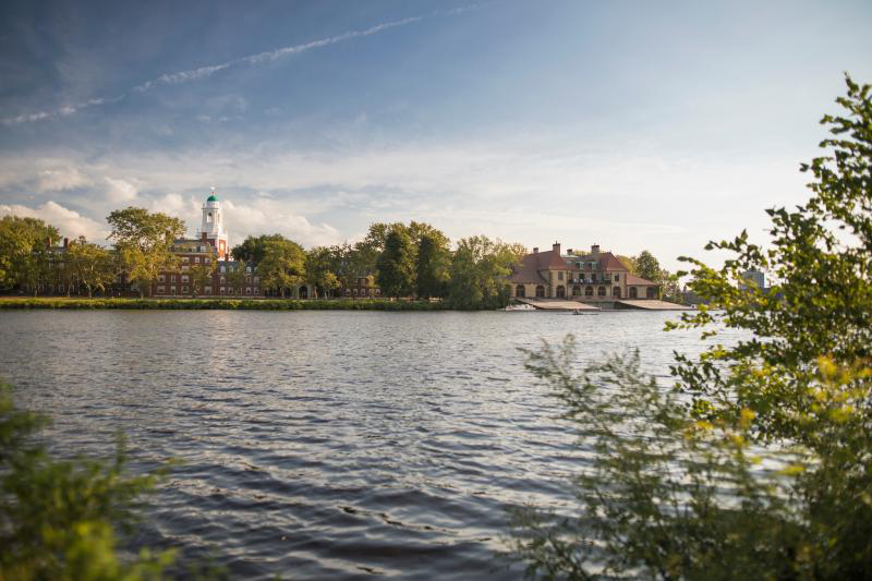 Charles River with Harvard campus in distance
