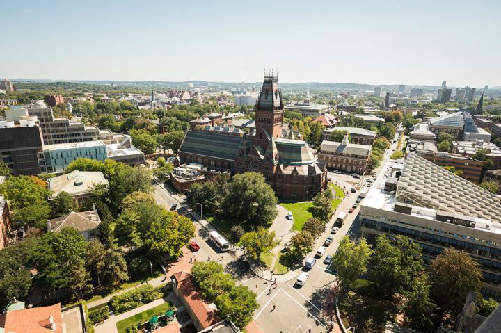 ariel view of sanders theater