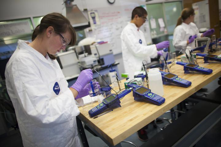 A student doing research in a lab